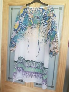 Ladies Chiffon Beach Dress Medium