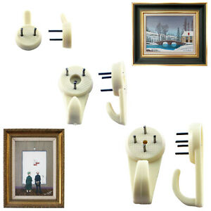 Hard Wall Picture Hook Hanger Frame Mirror Photo Hanging Heavy Duty Hardwall