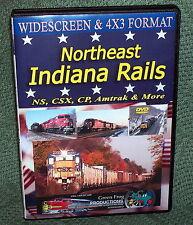 "20278 TRAIN VIDEO DVD ""NORTHWEST INDIANA RAILS"" NS, CSX, CP, AMTRAK"