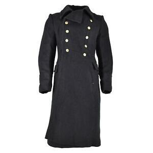 Original Soviet Russian army Wool Overcoat Black long officer Navy marines NEW