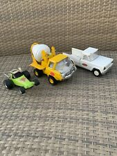 Vintage Tonka 3 Lot Rail Splitter, Cement Mixer, Jeep Wrecker Parts Or Restore