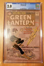 SHOWCASE # 22 *CGC 2.0 CREAM TO OW PAGES* 1ST APPEARANCE OF SA GREEN LANTERN