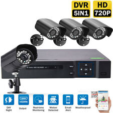 4CH 1080N 5IN1 DVR Outdoor IR-CUT Camera Home Security System Motion Detection