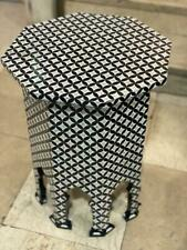 """Vintage Handmade End Table Inlaid Mother of Pearl 17"""""""