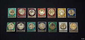 Pins Abzeichen UDSSR Republik 14 St.Sammlung