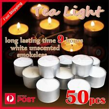 Tealight Candle Tea Light Candles Tealights Home Party Wedding 9 hours 50pcs