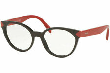 Authentic Prada PR01TV - DHO1O1 Eyeglasses BROWN RED *NEW*  53mm