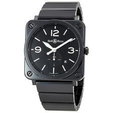 Bell and Ross Black Dial Black Ceramic Unisex Watch BRS-BL-CER