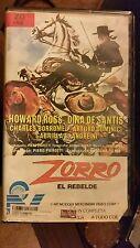 ZORRO EL REBELDE... HOWARD ROSS DINA DE SANTIS...  RARE SPANISH VIDEO.