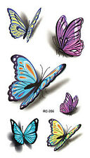 3D Colorful Butterfly Body Art arm sleeves Temporary Tattoo Waterproof Sticker