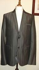 CALVIN KLEIN COLLECTION Crosby Soft Wool Blazer Gotham Grey Size UK 44R ITA 54R