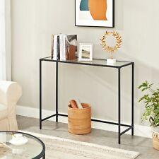 VASAGLE Beistelltisch Konsolentisch aus Hartglas Sofatisch Wohnzimmer LGT026B01