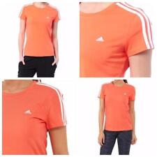 Womens adidas Essentials 3s T-shirt Coral- Built With Climalite Fabric 4-6 F50703ACOR076