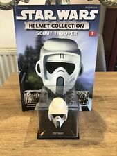 STAR WARS DEAGOSTINI REPLICA HELMET COLLECTION ISSUE 7 SCOUT TROOPER + MAGAZINE