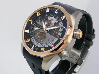 Corum Admiral's Cup Legend 47 Worldtimer 637.101.05/F371 Ti/18k Gold $18,000 NIB