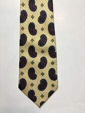 Men's Tie Necktie Yellow Red Blue Paisley Print