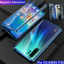 For Huawei P30 Lite / Pro 360° Magnetic Adsorption Case Double Sides Glass Cover
