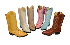 children youth sizes cowboy boots Crocodile leather rodeo boys western best