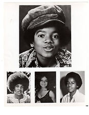THE JACKSONS  PHOTOS / BLACK & WHITE / LOT OF 2
