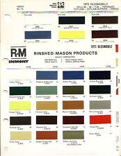 New listing 1973 Oldsmobile Cutlass Supreme Toronado Delta 88 98 F85 Paint Chips