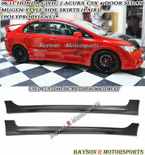 Mu-gen Style Side Skirts (PP) Fits 06-11 Civic CSX 4dr Sedan