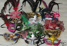 NEW MARDI GRAS masquerade costume party Halloween MASKS 10 piece mask lot