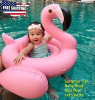 Flamingo baby kids Swimming raft inflatable pool float Perfect Summer Toy