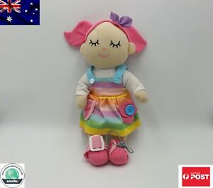 New Plush Multicolor Doll 33cm with motor skills activities