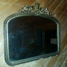 """Antique Mirror 28 x 24 """" Gold Hollywood Regency framed Gilt baroque vintage"""