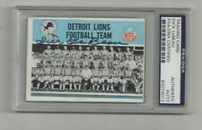 Dick Le Beau Signed 1966 topps card PSA/DNA Auto Detriot Lions