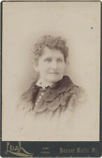 Cabinet Card, Beaver Falls Pa. Woman With Thin Eyebrows And A Smirk.