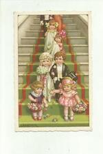 138136 bella cartolina illustrata A. BERTIGLIA  matrimonio