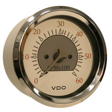 "VDO Allentare White/Grey 6000RPM 3-3/8"" (85mm) Sterndrive Tachometer - 12V"