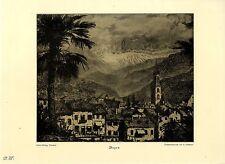 Bozen, Südtirol nach einer Originalzeichnung Albert Schellerer Kunstdruck 1927