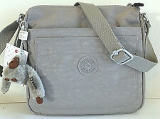 KIPLING Sebastian Crossbody Shoulder Bag Gray Grey Nylon HB6877 Top Zip NEW NWT