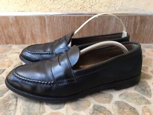 ALDEN X BROOKS BROTHERS  Shell Cordovan Black Penny Loafer Size 9C