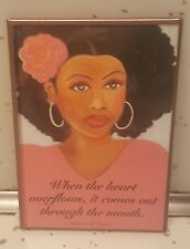 Gbaby African American Magnet/Lady In Pink/BLACK AMERICANA