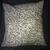 18 INCH SQUARE CUSHION COVER MADE WITH WILLIAM MORRIS WILLOW BOUGH GREEN FABRIC