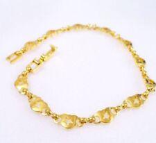 Pulseras de joyería de metales preciosos sin piedras de oro amarillo de 24 quilates