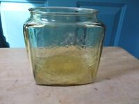 Federal Glass Madrid Amber Cookie or Biscuit Jar Base