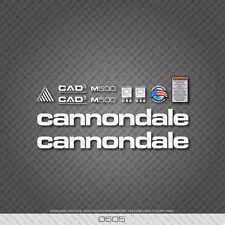 0505 White Cannondale M500 Bicycle Stickers - Decals - Transfers