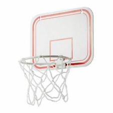 Plastic Indoors Outdoors Basketball Hoop Over Door Wall Mount Kids Sports W/Ball