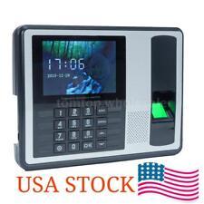 Biometric Fingerprint Password Time Attendance Clock Machine Check-in Recorder