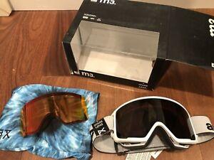 NEW Anon M3 Burton Ski Snow White Goggles Sonar Smoke / Infrared 2x Zeiss Lens