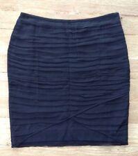 NWT  ANN TAYLOR Petites 2P  Black Silk Georgette Overlay Pencil Skirt - $120.00