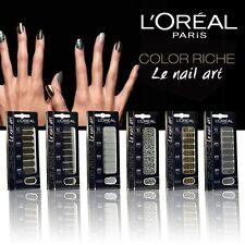 L'ORÉAL 18 STICKERS ONGLES COLOR RICHE LE NAIL ART 012 DIAMANT ETERNEL