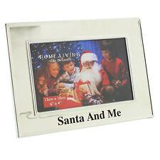 "Santa And Me Christmas Silver Photo Frame 6 x 4"" xm627"