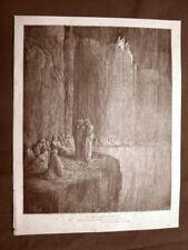Incisione Gustave Dorè del 1890 Dante Sapia di Siena Divina Commedia Purgatorio