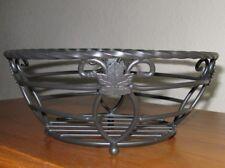 "Longaberger ~ Wrought Iron Small Twisted Bowl ~ Nib ~ 10"" diameter ~ Free Ship"