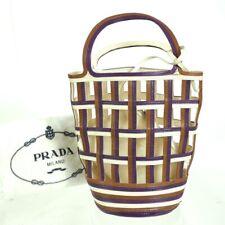 Vintage  PRADA Braided Leather Bucket  Hand Bag. NFV6524